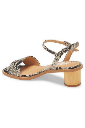 Topanga Snake Vegan Leather Block Heel Sandal Back
