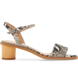 Topanga Snake Vegan Leather Block Heel Sandal Side