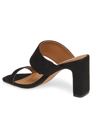 Torrey Vegan Black Double Strap Sandal Back