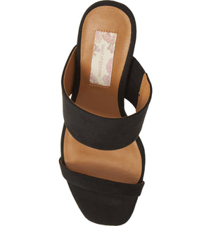 Torrey Vegan Black Double Strap Sandal Top