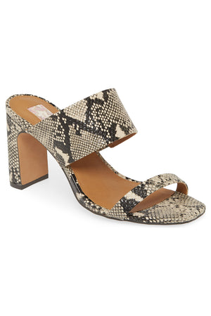 Torrey Vegan Leather Snake Double Strap Sandal Master
