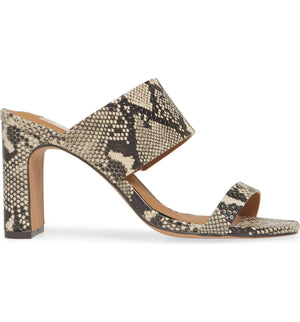 Torrey Vegan Leather Snake Double Strap Sandal Side