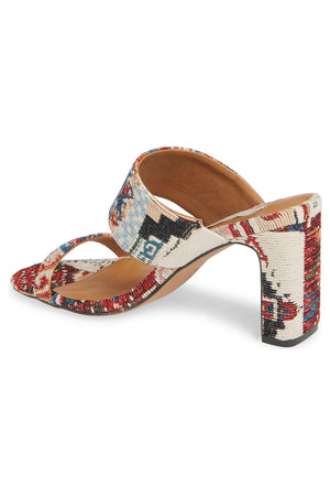 Torrey Vegan Tapestry Double Strap Sandal Back