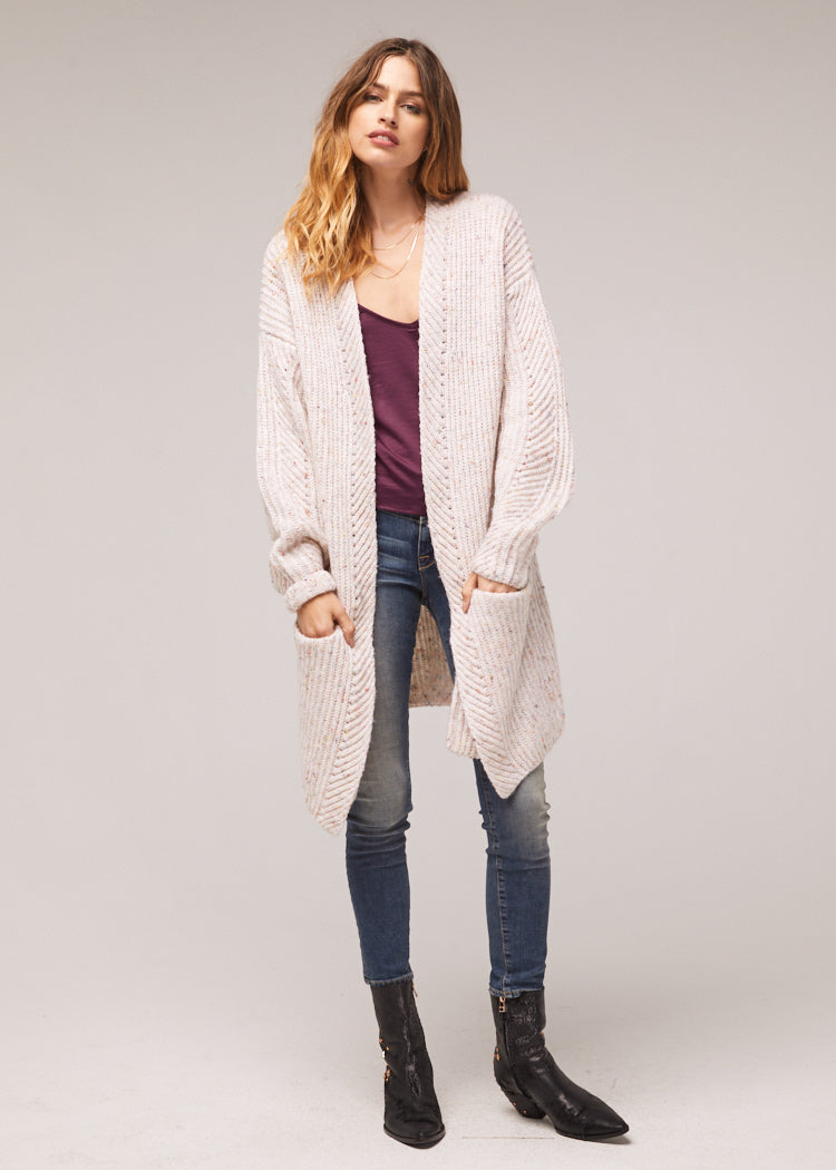 Tyne Oversized Ivory Cardigan Wrap Sweater Master2