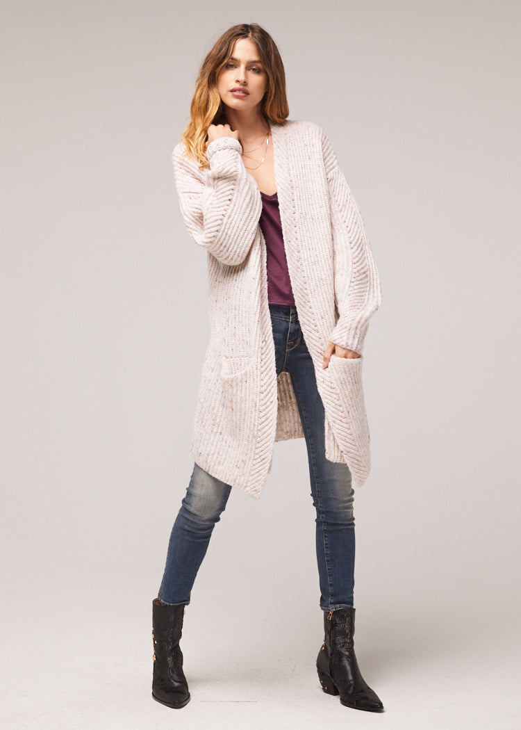 Tyne Oversized Ivory Cardigan Wrap Sweater Master
