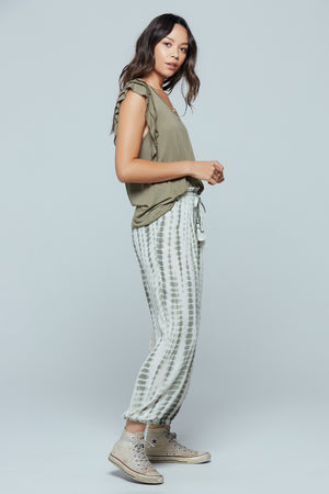 Ubud High Waist Tie-Dye Jogger Pants Side