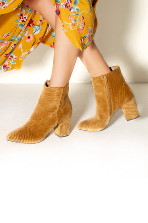 Andrea Tan Corduroy Ankle Booties Master