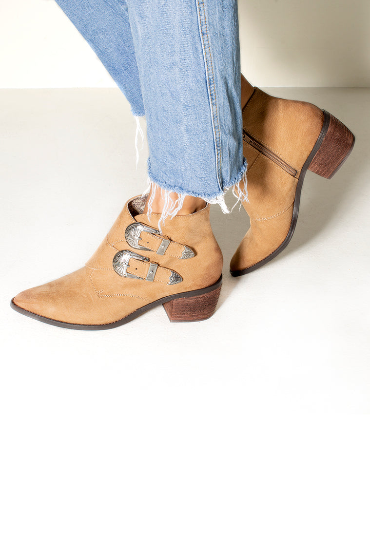 Jericho Buckle Ankle Faux Exotic Boot