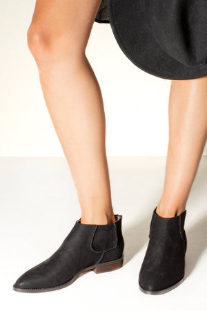 Madison Micro Suede Ankle Boot Black