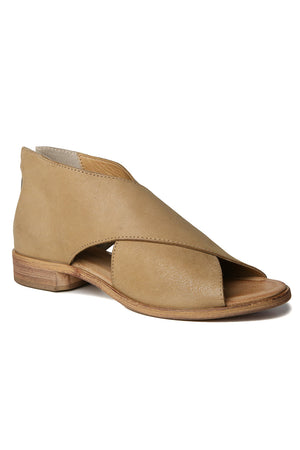 Venice Natural Leather Wrap Sandal Front