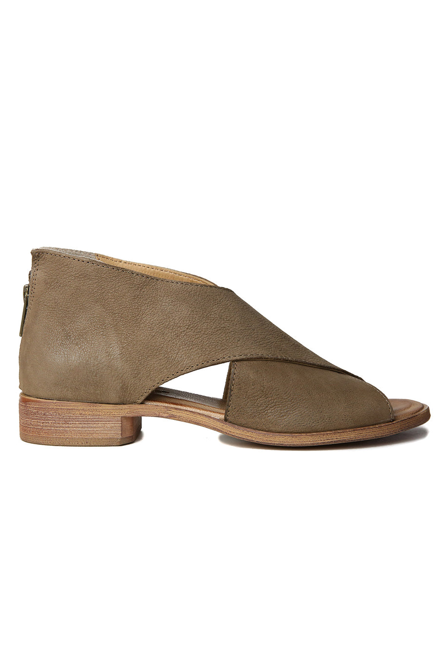 Venice Taupe Leather Wrap Sandal Front