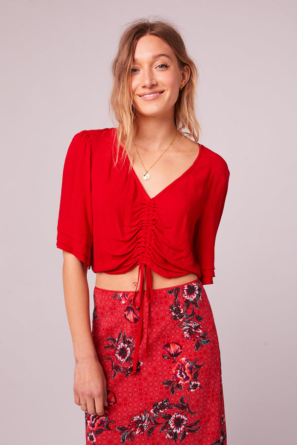 Venice Beach Red Drawstring Top Master