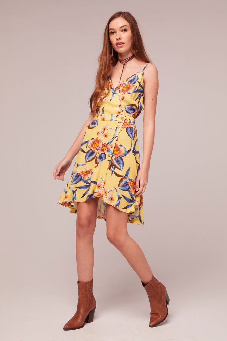 Verbena Tropical Banana Print Mini Dress Master