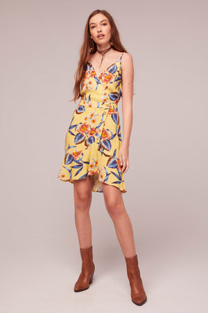 Verbena Tropical Banana Print Mini Dress Master2