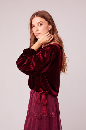 Vino Velvet Burgundy Top Side