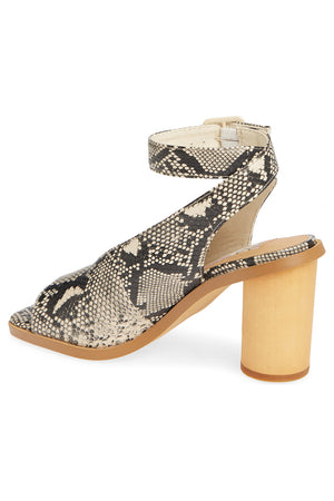 Vista Vegan Snake Leather Ankle Strap Sandal Back