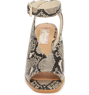 Vista Vegan Snake Leather Ankle Strap Sandal Front