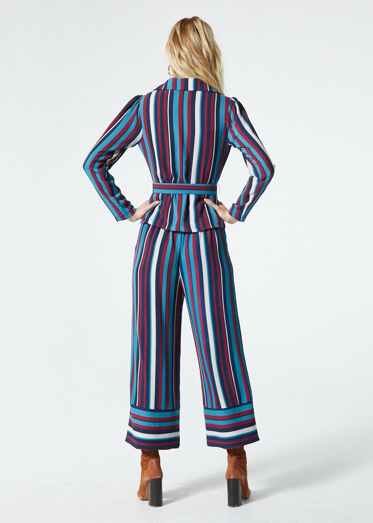Gwyneth Blue Stripe Pant Back