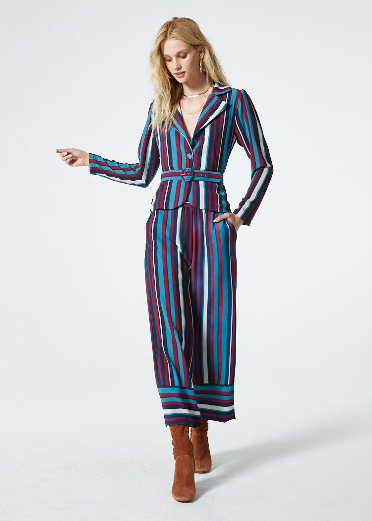 Gwyneth Blue Stripe Pant Master