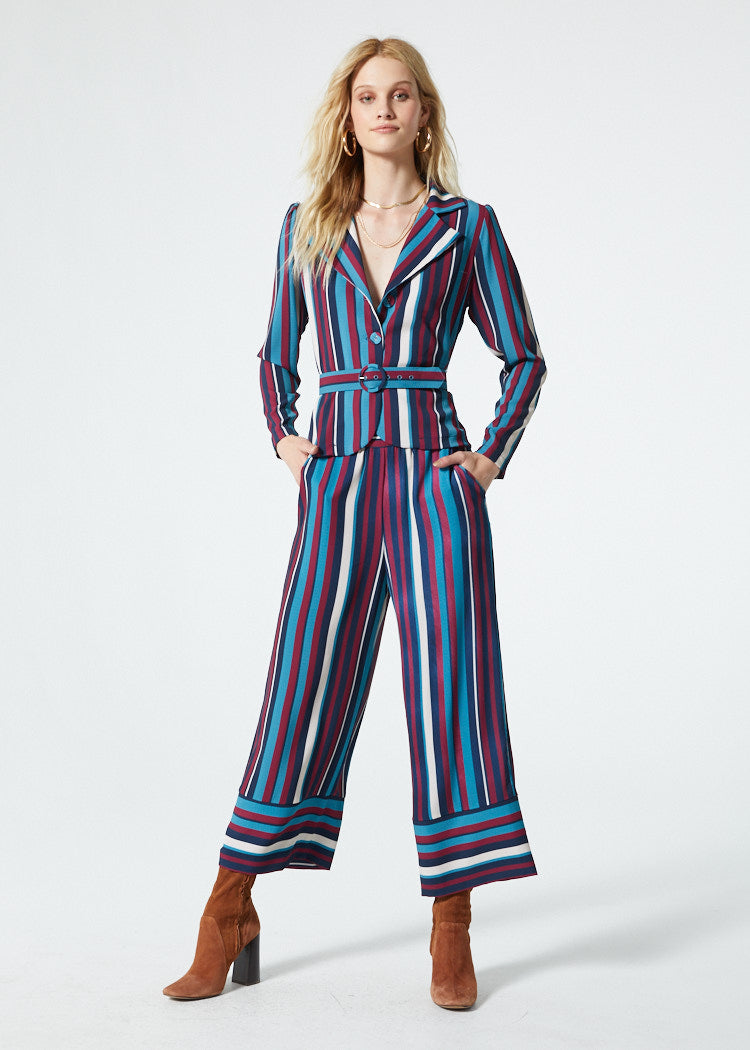 Gwyneth Blue Stripe Pant Detail