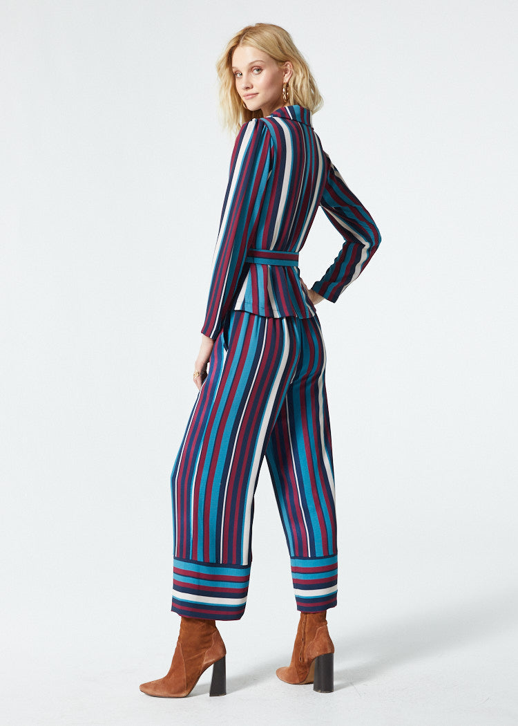 Gwyneth Blue Stripe Pant Side