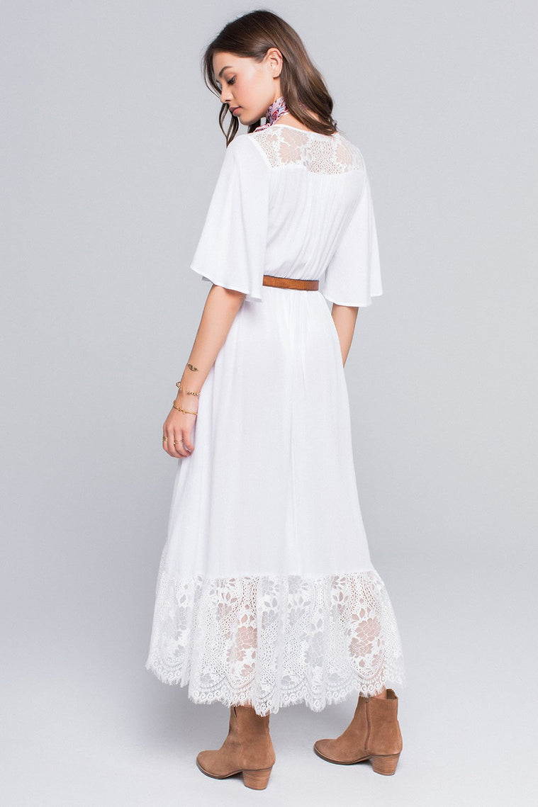 Button Down Maxi Dress Lace
