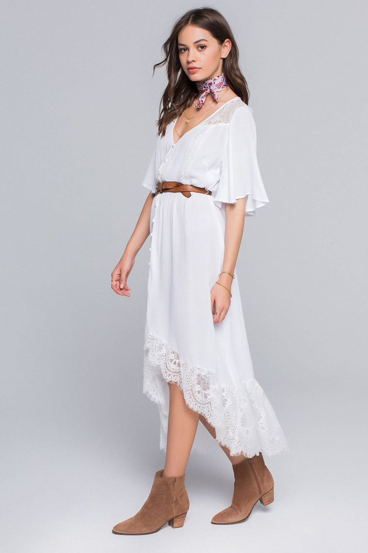 Nico Lace Dress Button Down Maxi Dress
