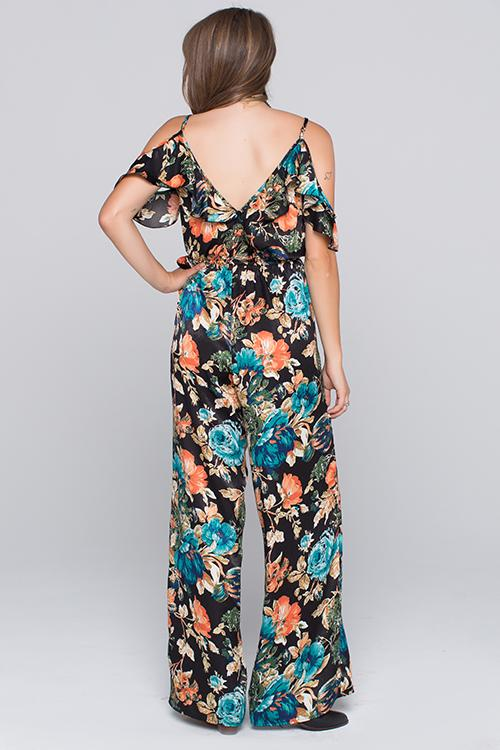 Bree Floral Printed Jumpsuit Back