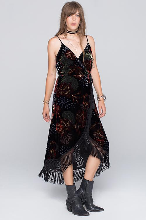 Agnes Fringed Midi Dress Master