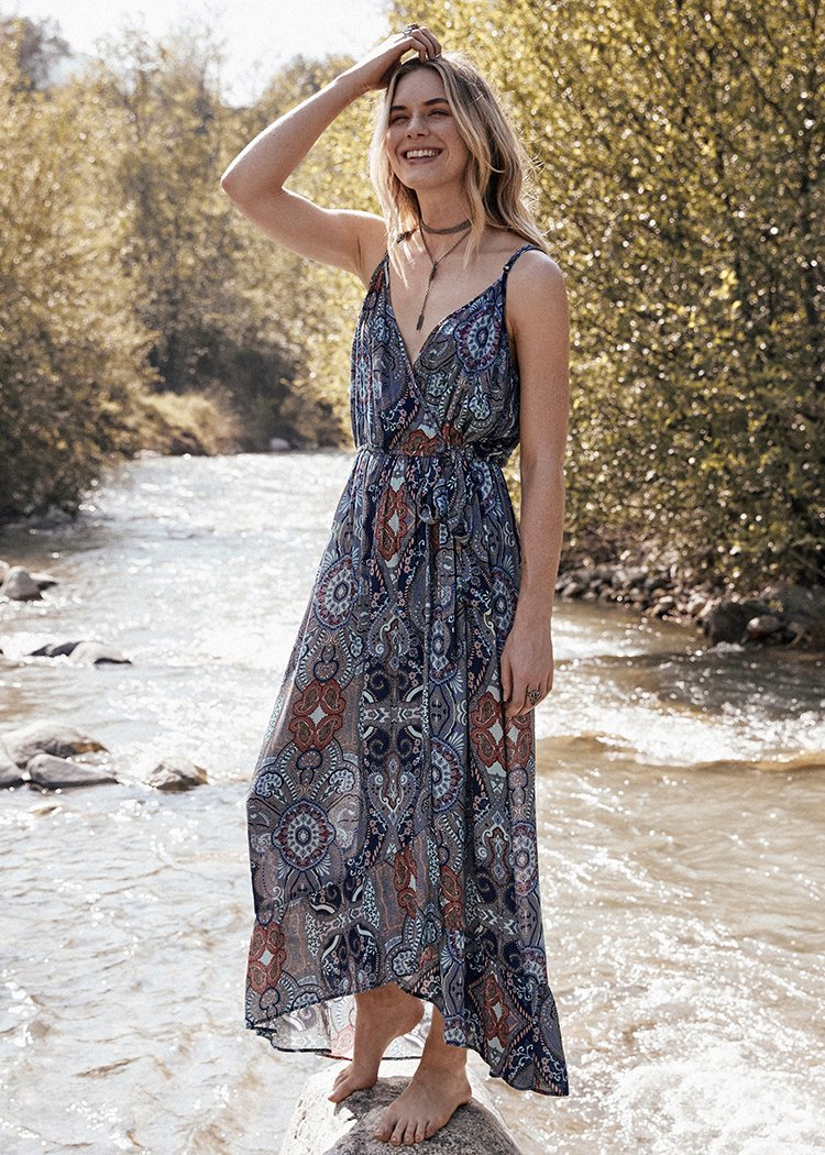 Kenzie Surplice Maxi Dress