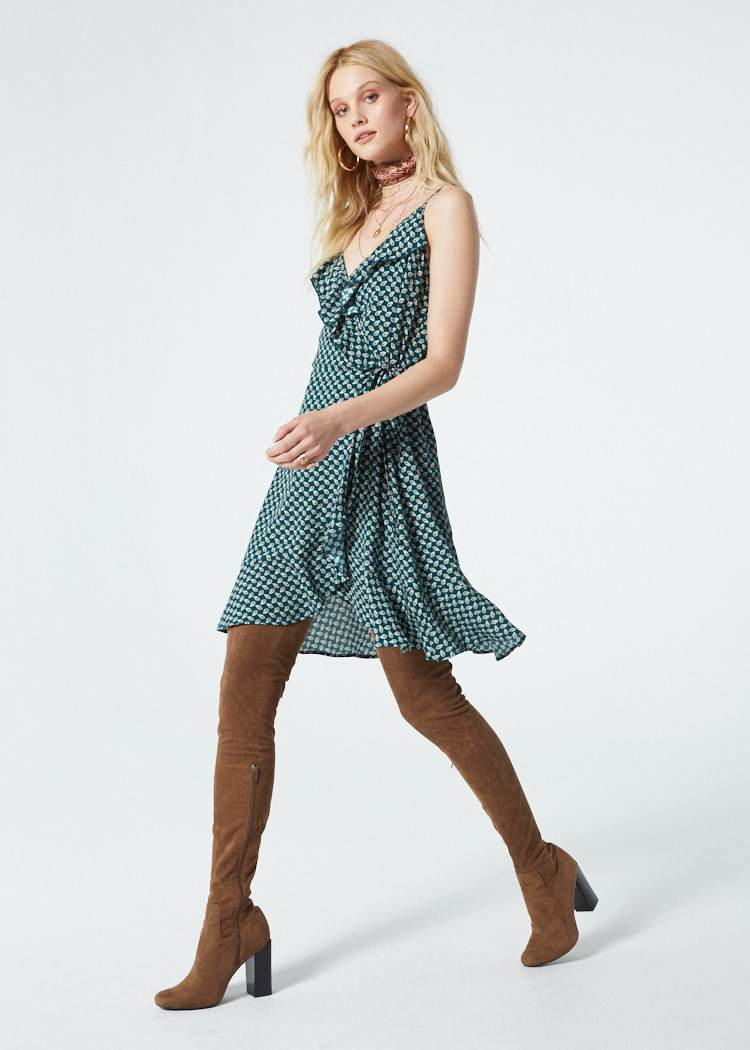 Dillon Faux Wrap Dress