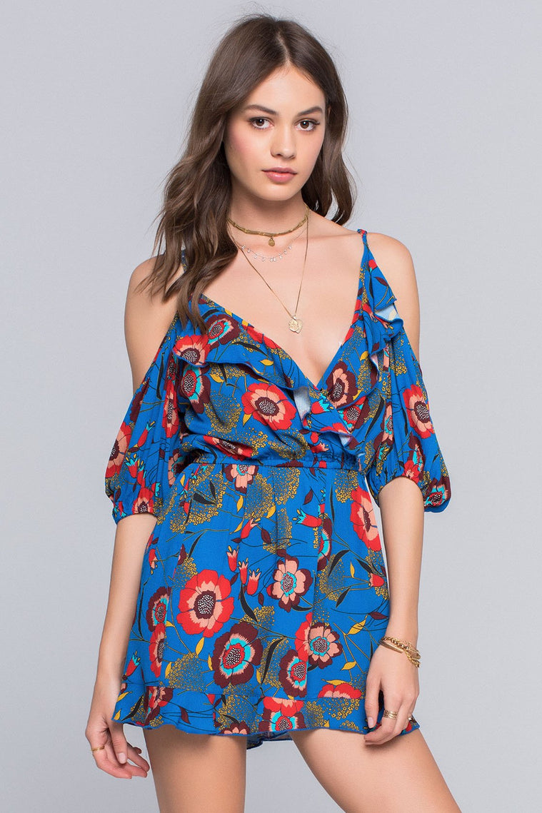 NAOMIE HEIRLOOM BLOSSOM PRINT PLAYSUIT