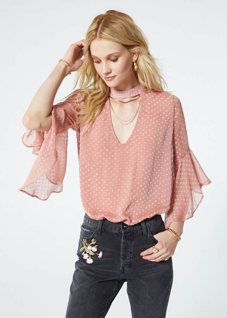 Sabina Romantic Ruffle Blouse