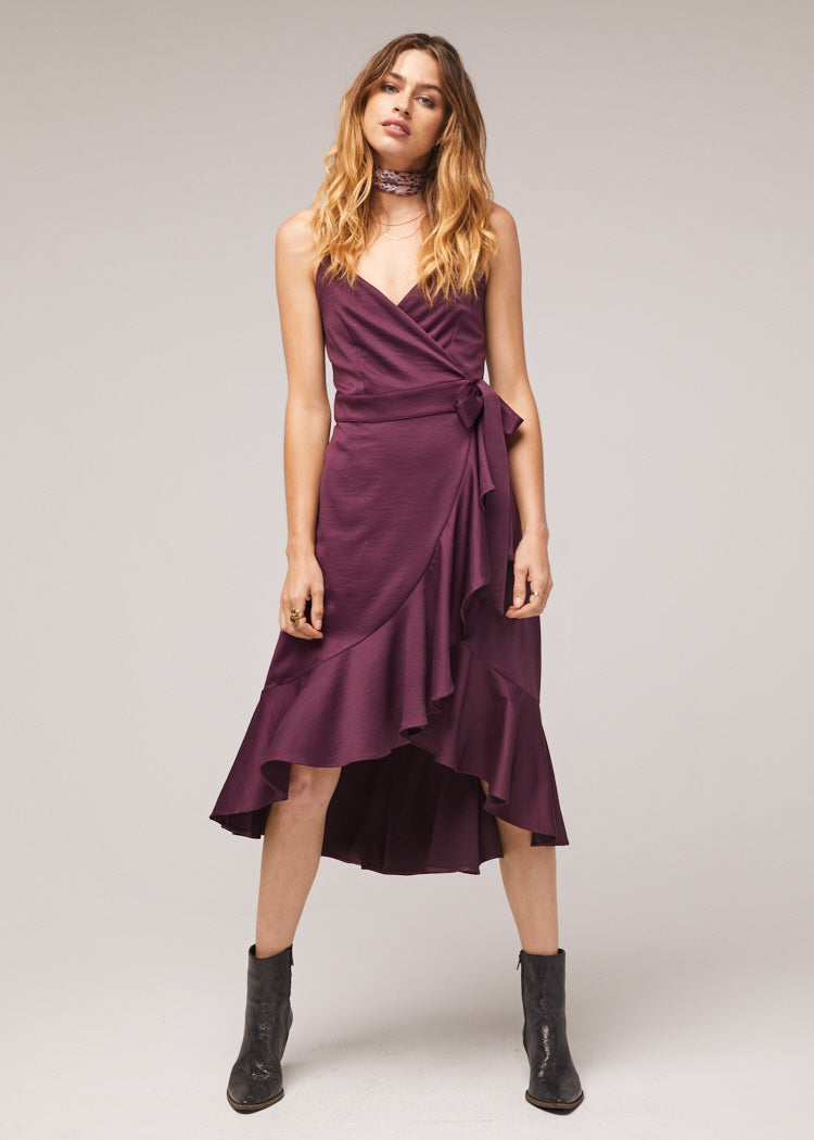 Payton Ruffle Wrap Dress