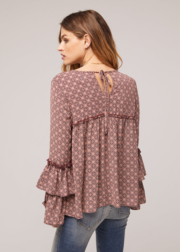 Arron Ruffle Bell Sleeve Blouse Back