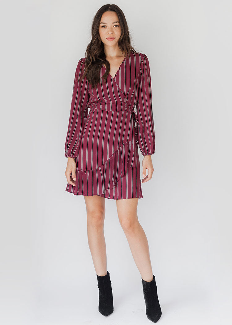Aurora Stripe Wrap Dress