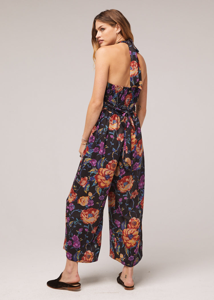 Billy Floral Wide Leg Jumpsuit Back
