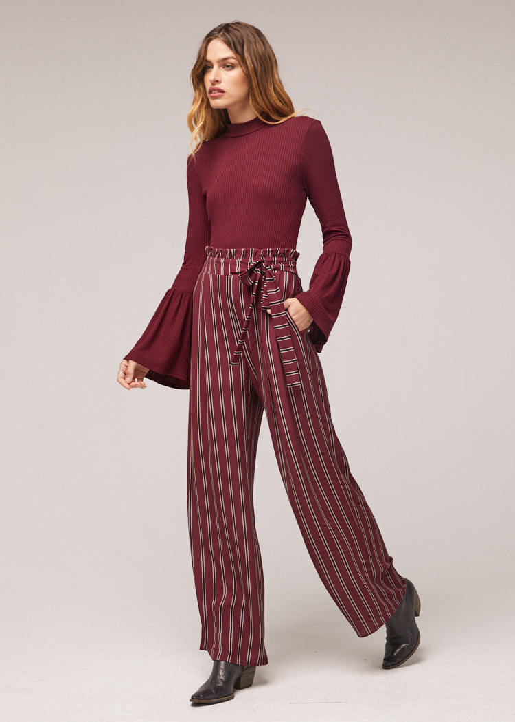 Avery Wide Leg Stripe Pant