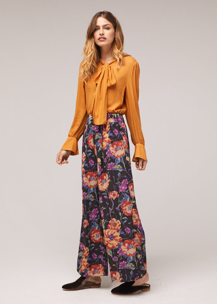 Brice Printed Wide Leg Pant Side