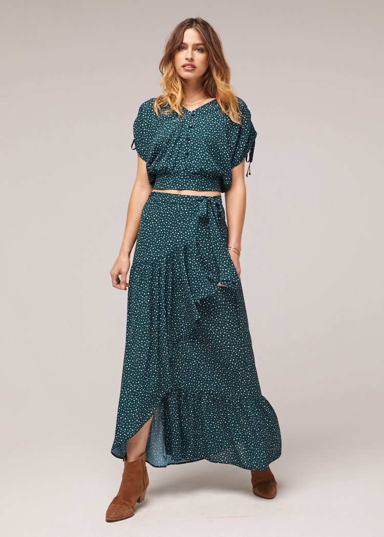 Dane Front Wrap Maxi Skirt