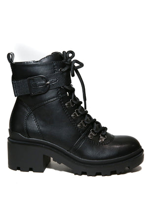 Wanda Vegan Platform Combat Boot Side