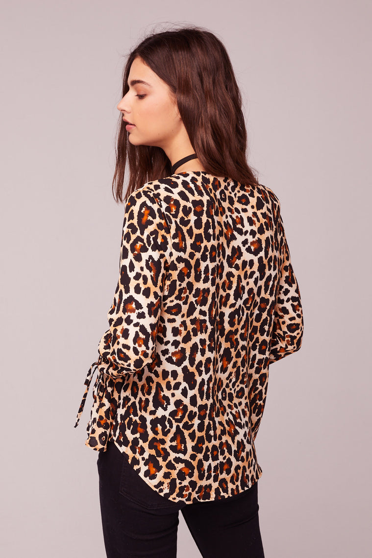 Welcome To The Jungle Leopard Print Top Back