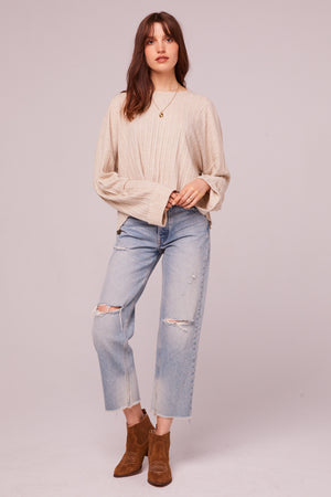 Westminster Asymmetrical Hem Sweater Detail