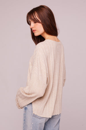 Westminster Asymmetrical Hem Sweater Back