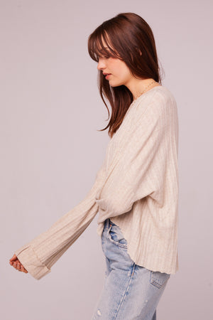 Westminster Asymmetrical Hem Sweater Side