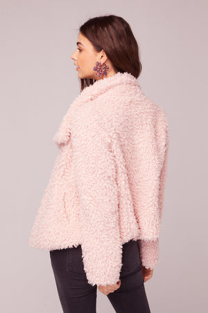 Whole Lotta Love Pink Faux Fur Jacket Back2