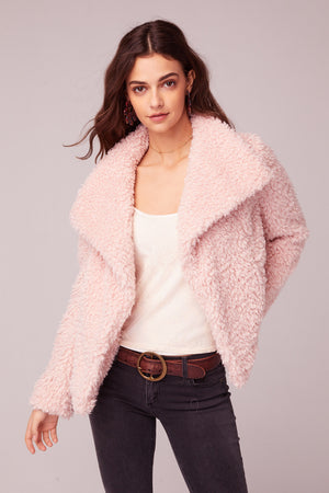 Whole Lotta Love Pink Faux Fur Jacket