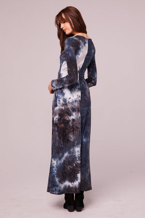 Winward Ave Long Sleeve Tie Dye Maxi Dress Back 2