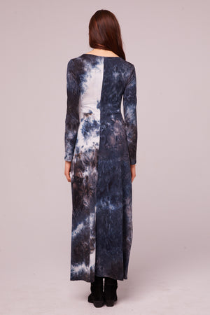 Winward Ave Long Sleeve Tie Dye Maxi Dress Back