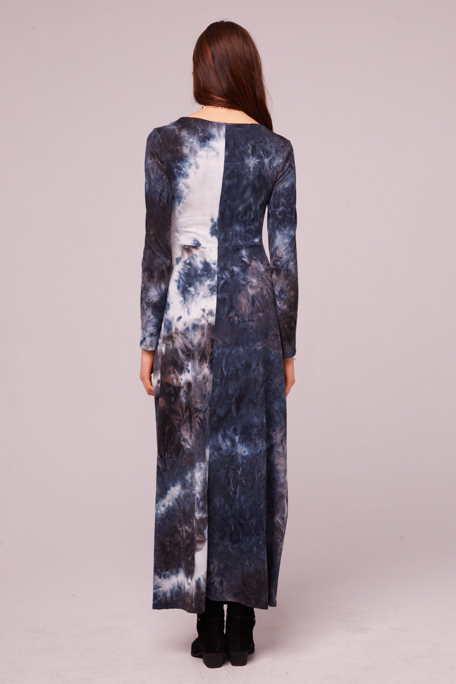 Winward Ave Long Sleeve Tie Dye Maxi Dress Master